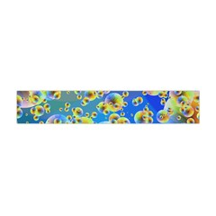Color Particle Background Flano Scarf (Mini)