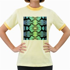 Branches With Diffuse Colour Background Women s Fitted Ringer T Shirts