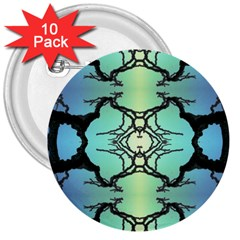 Branches With Diffuse Colour Background 3  Buttons (10 Pack)
