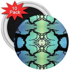 Branches With Diffuse Colour Background 3  Magnets (10 Pack)