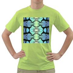 Branches With Diffuse Colour Background Green T Shirt