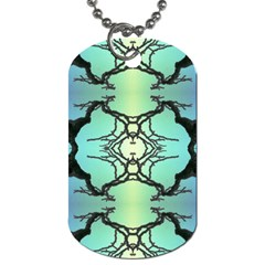 Branches With Diffuse Colour Background Dog Tag (one Side)