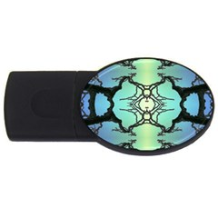 Branches With Diffuse Colour Background USB Flash Drive Oval (1 GB)
