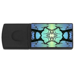 Branches With Diffuse Colour Background USB Flash Drive Rectangular (1 GB)