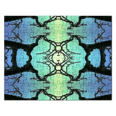 Branches With Diffuse Colour Background Rectangular Jigsaw Puzzl