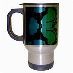 Branches With Diffuse Colour Background Travel Mug (Silver Gray)