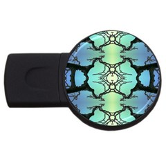 Branches With Diffuse Colour Background USB Flash Drive Round (4 GB)