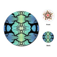 Branches With Diffuse Colour Background Playing Cards (round)