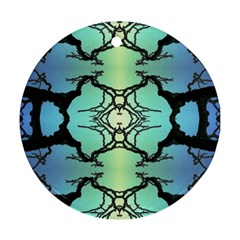Branches With Diffuse Colour Background Round Ornament (Two Sides)