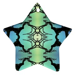 Branches With Diffuse Colour Background Star Ornament (two Sides)