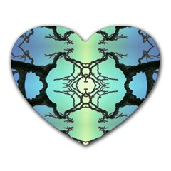 Branches With Diffuse Colour Background Heart Mousepads