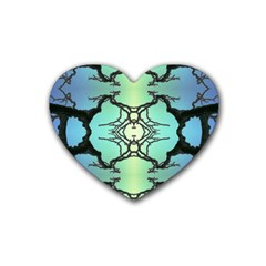 Branches With Diffuse Colour Background Rubber Coaster (Heart)