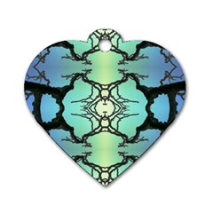 Branches With Diffuse Colour Background Dog Tag Heart (two Sides)