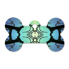 Branches With Diffuse Colour Background Dog Tag Bone (Two Sides)