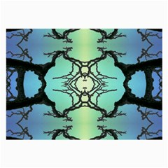 Branches With Diffuse Colour Background Large Glasses Cloth