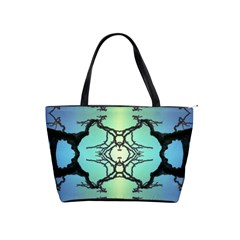 Branches With Diffuse Colour Background Shoulder Handbags