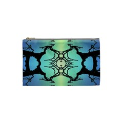 Branches With Diffuse Colour Background Cosmetic Bag (Small)