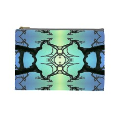 Branches With Diffuse Colour Background Cosmetic Bag (Large)