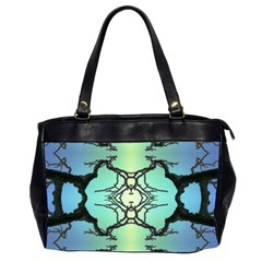 Branches With Diffuse Colour Background Office Handbags (2 Sides)