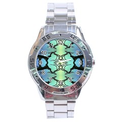 Branches With Diffuse Colour Background Stainless Steel Analogue Watch