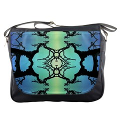 Branches With Diffuse Colour Background Messenger Bags