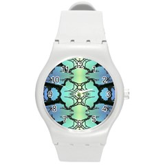 Branches With Diffuse Colour Background Round Plastic Sport Watch (m)
