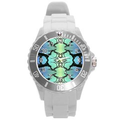 Branches With Diffuse Colour Background Round Plastic Sport Watch (l)