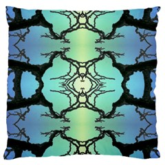Branches With Diffuse Colour Background Large Flano Cushion Case (two Sides)