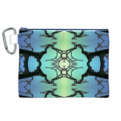 Branches With Diffuse Colour Background Canvas Cosmetic Bag (XL)