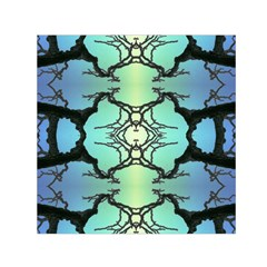 Branches With Diffuse Colour Background Small Satin Scarf (Square)