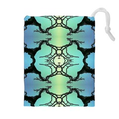 Branches With Diffuse Colour Background Drawstring Pouches (Extra Large)