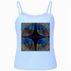 Black Cross With Color Map Fractal Image Of Black Cross With Color Map Baby Blue Spaghetti Tank