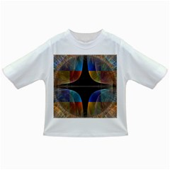 Black Cross With Color Map Fractal Image Of Black Cross With Color Map Infant/Toddler T-Shirts