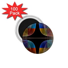 Black Cross With Color Map Fractal Image Of Black Cross With Color Map 1.75  Magnets (100 pack)