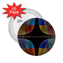 Black Cross With Color Map Fractal Image Of Black Cross With Color Map 2.25  Buttons (10 pack)