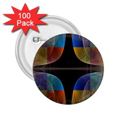 Black Cross With Color Map Fractal Image Of Black Cross With Color Map 2 25  Buttons (100 Pack)