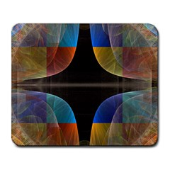 Black Cross With Color Map Fractal Image Of Black Cross With Color Map Large Mousepads