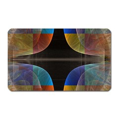 Black Cross With Color Map Fractal Image Of Black Cross With Color Map Magnet (rectangular)