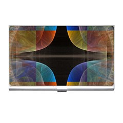 Black Cross With Color Map Fractal Image Of Black Cross With Color Map Business Card Holders