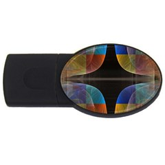 Black Cross With Color Map Fractal Image Of Black Cross With Color Map USB Flash Drive Oval (1 GB)