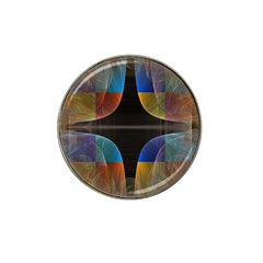 Black Cross With Color Map Fractal Image Of Black Cross With Color Map Hat Clip Ball Marker (10 Pack)