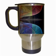 Black Cross With Color Map Fractal Image Of Black Cross With Color Map Travel Mugs (white)