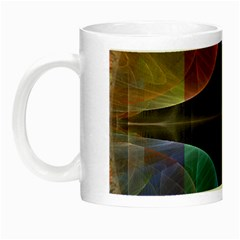 Black Cross With Color Map Fractal Image Of Black Cross With Color Map Night Luminous Mugs