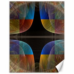 Black Cross With Color Map Fractal Image Of Black Cross With Color Map Canvas 12  X 16