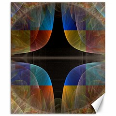 Black Cross With Color Map Fractal Image Of Black Cross With Color Map Canvas 20  X 24