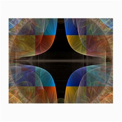 Black Cross With Color Map Fractal Image Of Black Cross With Color Map Small Glasses Cloth (2-Side)
