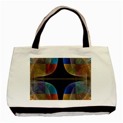 Black Cross With Color Map Fractal Image Of Black Cross With Color Map Basic Tote Bag (Two Sides)