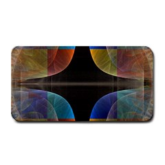 Black Cross With Color Map Fractal Image Of Black Cross With Color Map Medium Bar Mats