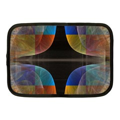Black Cross With Color Map Fractal Image Of Black Cross With Color Map Netbook Case (Medium)