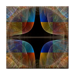Black Cross With Color Map Fractal Image Of Black Cross With Color Map Face Towel